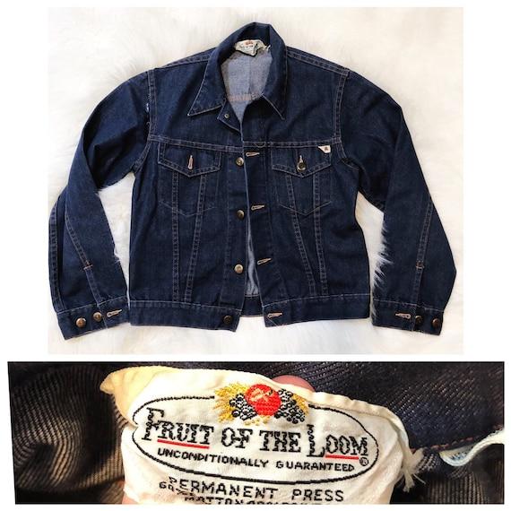 Vintage Fruit of the Loom denim jean jacket