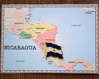 Nicaragua Flag Pin/ Tie Tack / Lapel Pin / Country Flag Pin
