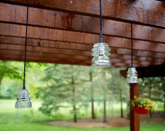 Outdoor Insulator Pendant Lights / Pergola, Patio, Deck, Gazebo, Trees /  Great Outdoor Lighting/ Priced Per Light