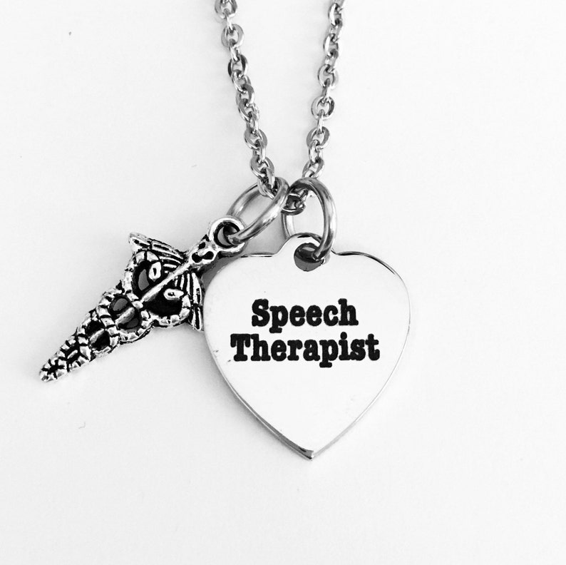 Speech therapist necklace, speech therapy, medical, speech training,  Christmas presents, gifts for her, gifts for holiday, girlfriend gifts
