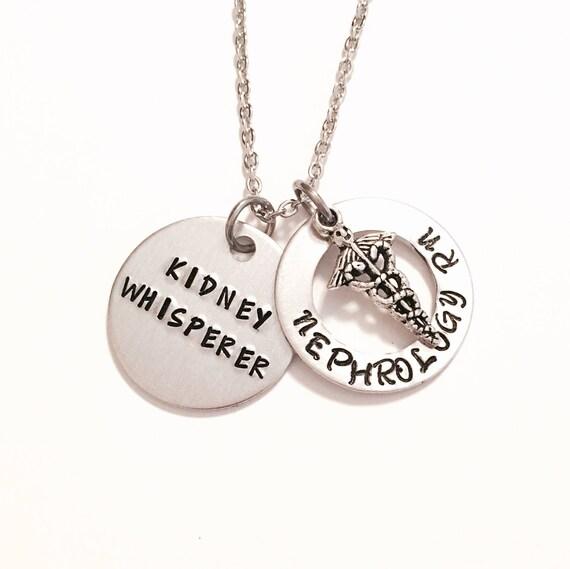 Nephrology RN necklace dialysis nurse kidney whisperer   Etsy