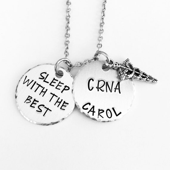 CRNA Necklace Keyring Nurse Anesthetist Gifts For Her