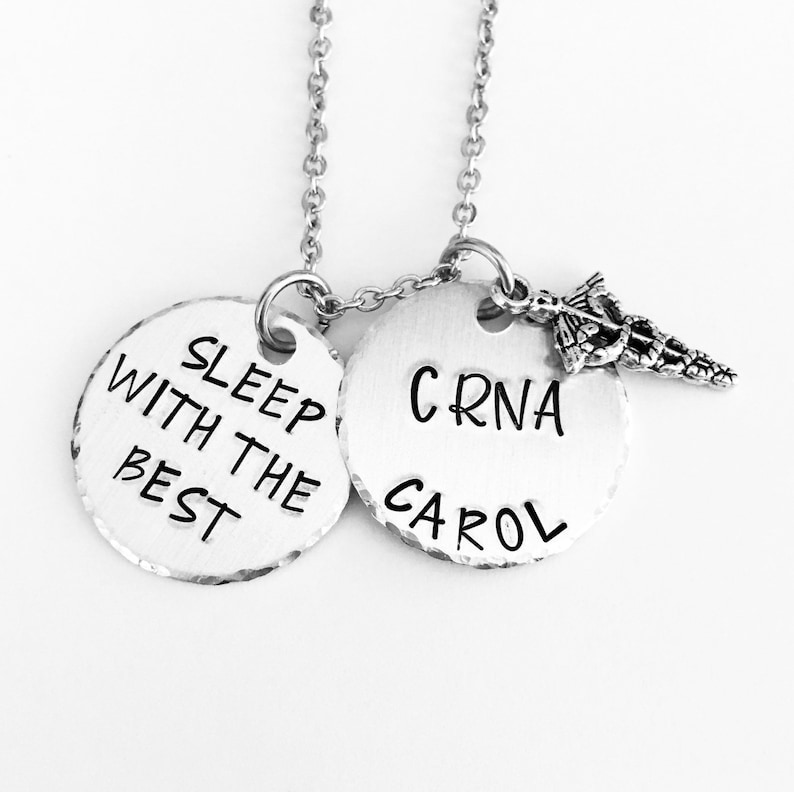 CRNA Necklace Keyring Nurse Anesthetist Gifts For Her Him Medical Valentines Day Birthday Week Christmas Gift