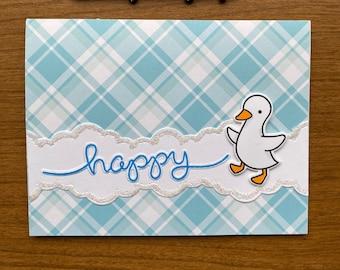 Ducks in a Tub Happy Birthday Interactive Handmade Birthday Card