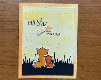 Wish Upon a Star Handmade Greeting Card