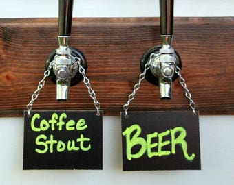 """Chalkboard Sign for Tap Handle for your Beer or Wine or Display, 3""""x4"""" Plus Chain"""