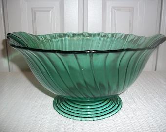 Jeannette Glass Ultramarine Swirl Console Bowl