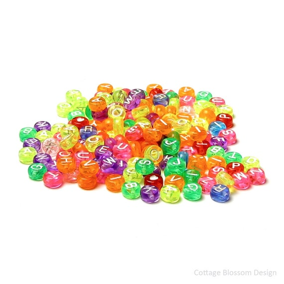 Craft Beads Acrylic Pony Neon Kids Crafts Jewelry Lot of 480