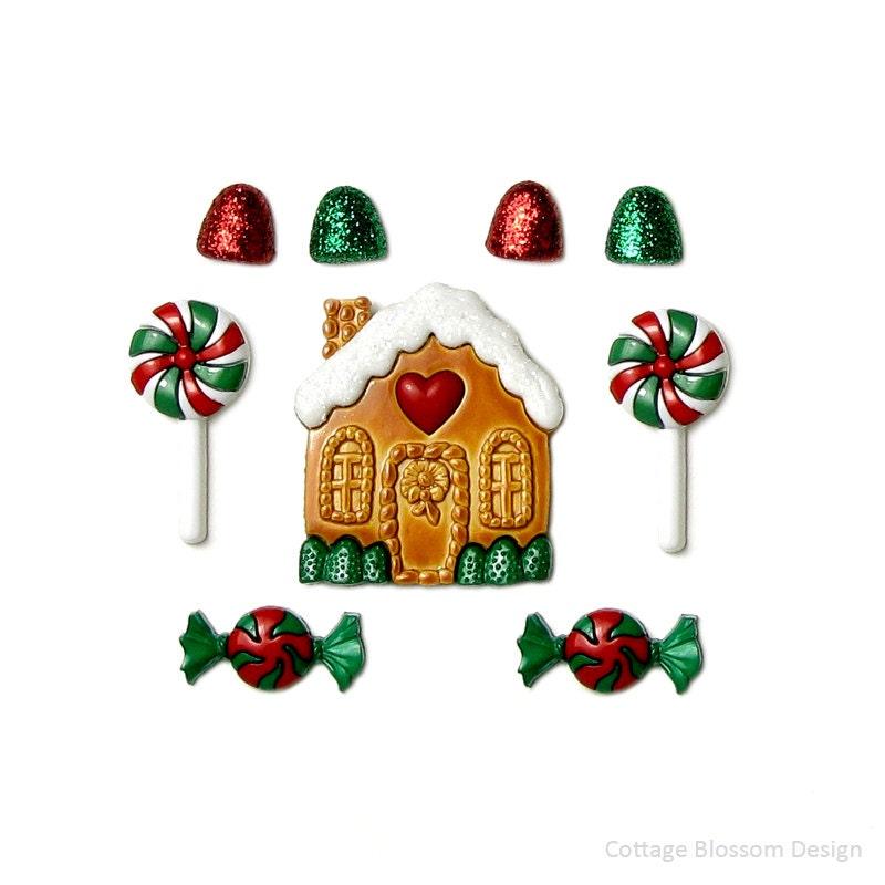 Candy casa Jesse James botones jengibre casa menta blanco   Etsy