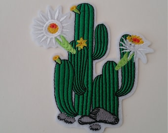4 Models cactus iron on or sew on patchFlower iron on patchPlant iron on patch Flower patch Cactus sew on patch Cactus patches Floral patch
