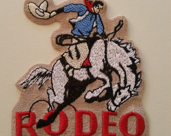 Rodeo iron on or sew on patch western applique rodeo applique etsy