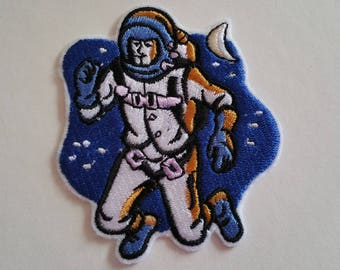 Astronaut iron on or sew on patch Space iron on patch Space sew on patch Astronaut sew on patch Patch space iron on Patch astronaut sew on