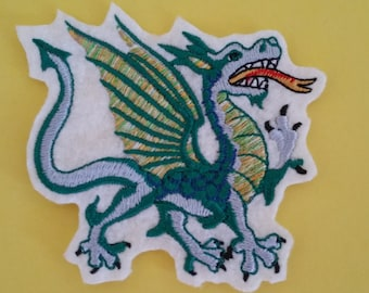 Fantastic dragon iron on or sew on applique Dragon embroidery applique Dragon patch Dragon applique Iron on dragon patch