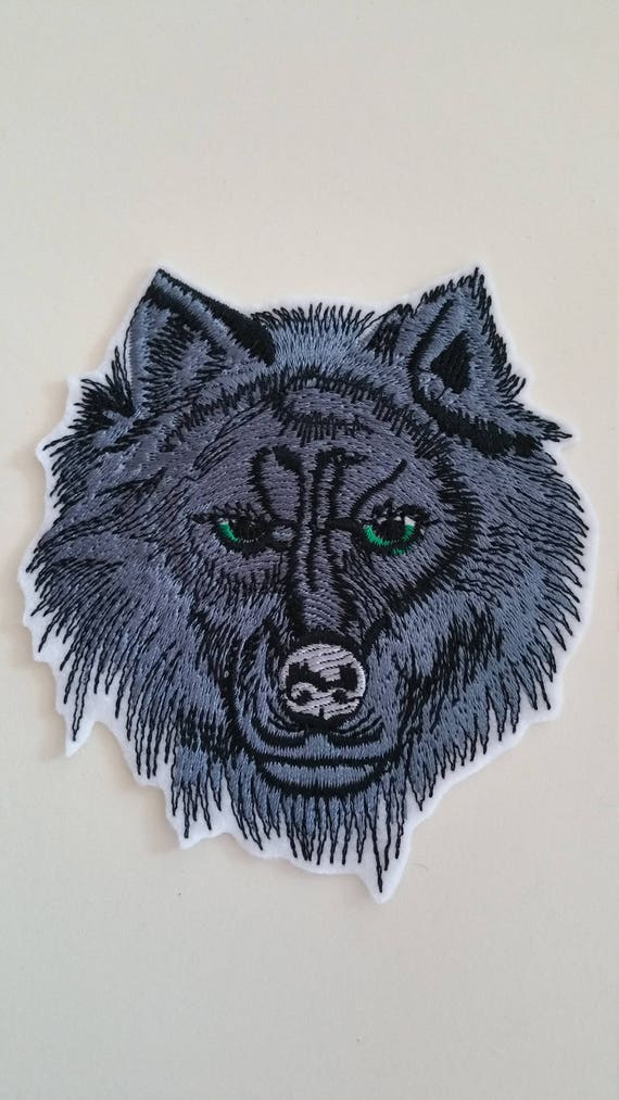 Patch Iron-On Wolf Embroidered Applique Wild Animal