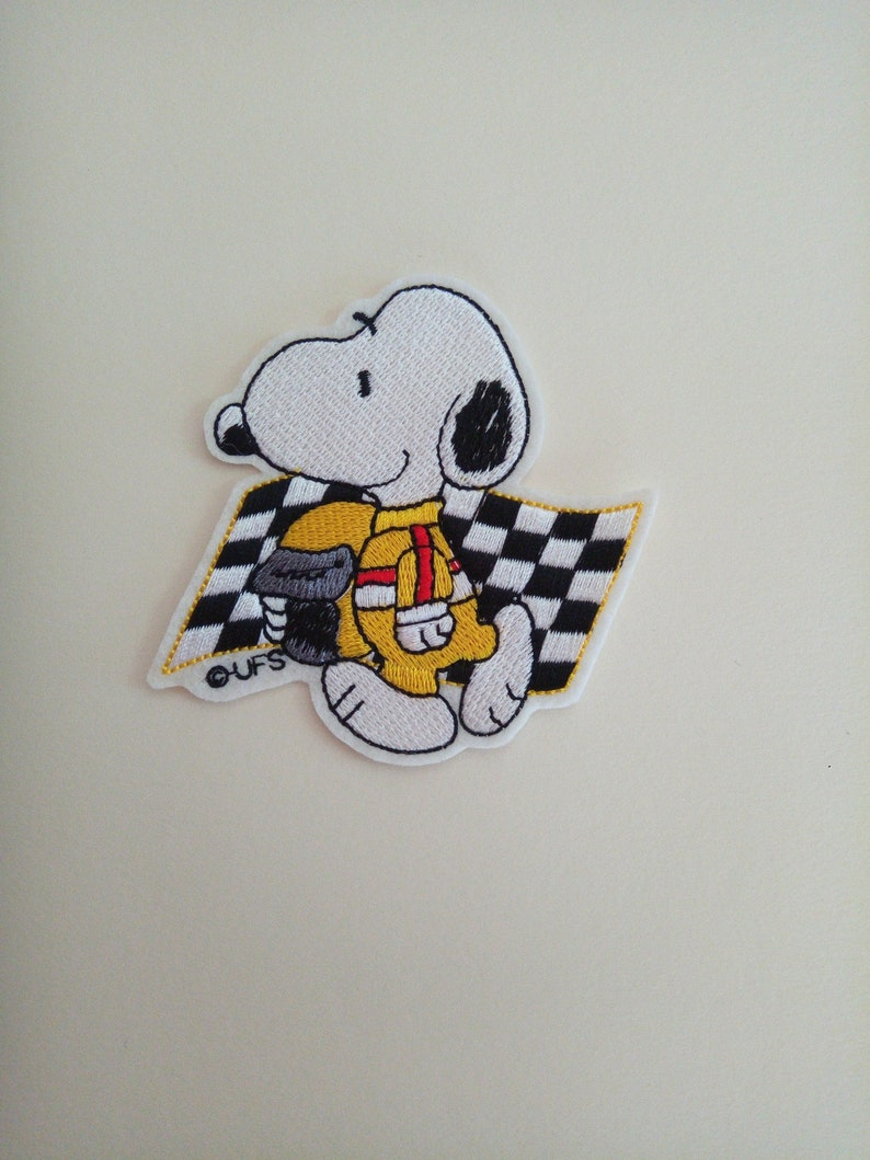 1 Fer Formule Sur À Applique Patch De Ou Snoopy Course Coudre CWrBedxo