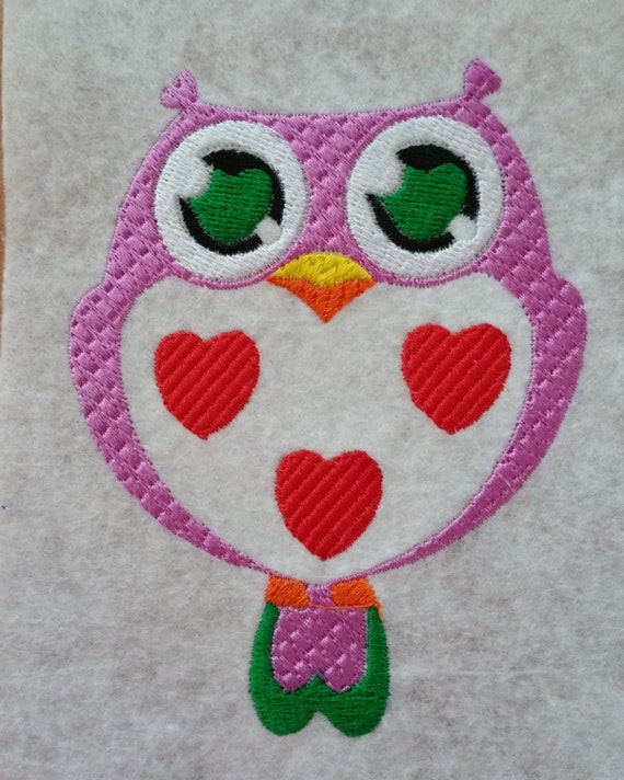 Cute Owl Instant Download Machine Embroidery Design Owl Etsy