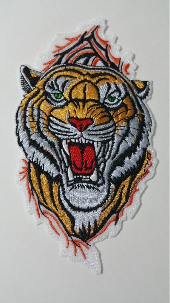 pair tiger sew on patch