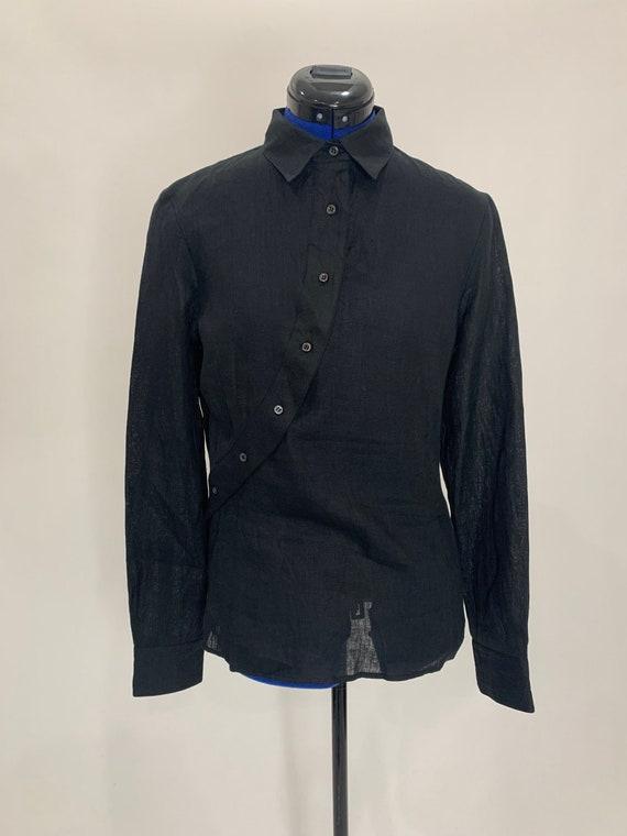 Unique button shirt black blouse collar Altuzarra