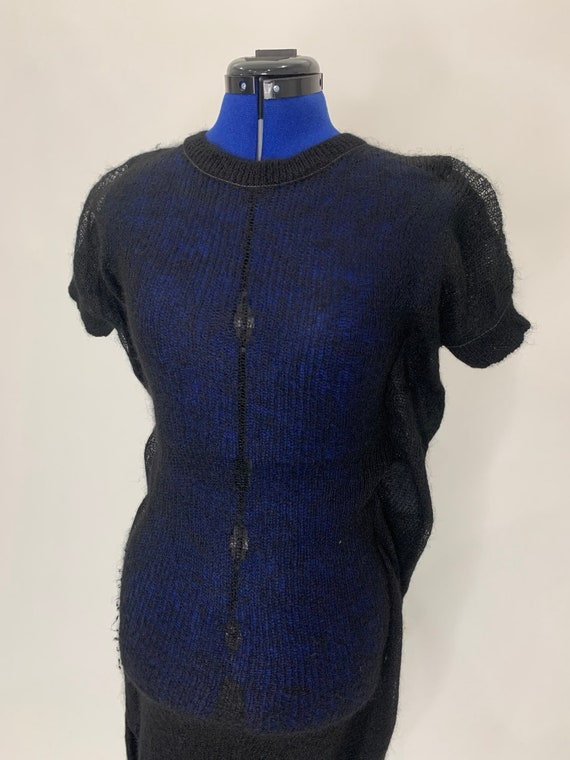 Commes des garçons junya watanabe cocoon knit shir