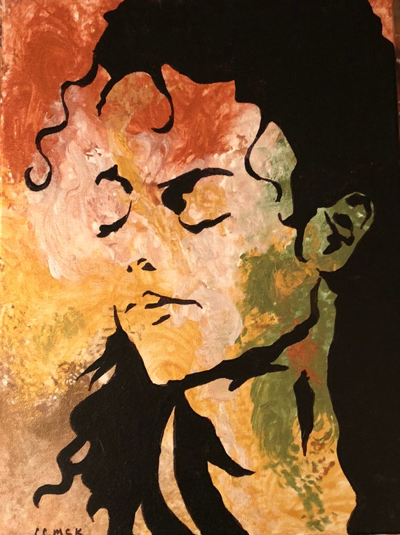 Michael Jackson original Art Michael Jackson pop art Original Painting modern art pop art celebrity art wall art celebrity pop art FREE ship