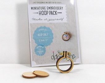 1-inch Miniature Hoop, Embroidery Hoop, Tiny Wooden Hoop, Craft Supply, DIY Kit [DH-1R]