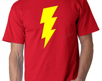 Shazam T-Shirt From the Most Popular TV Big Bang Theory