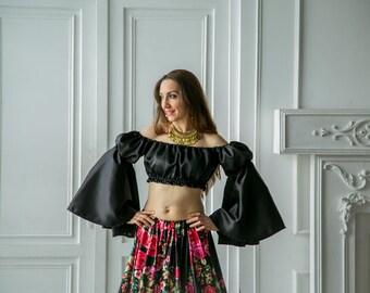 127fa5ee0a2a6 Gypsy blouse. Flamenco blouse.