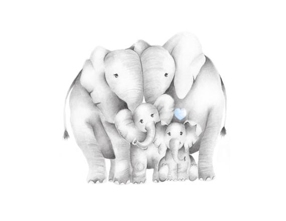 картинки мультяшных слонов семья придания
