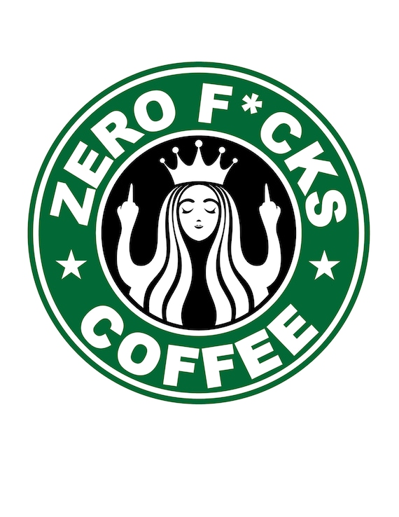 graphic about Printable Starbucks Logos identify Starbucks Symbol Parody - Zero Fucks - Centre Finger - Flipping Off - Amusing - Humor - Restaurant - Espresso - Electronic Down load - Printable Wall Artwork