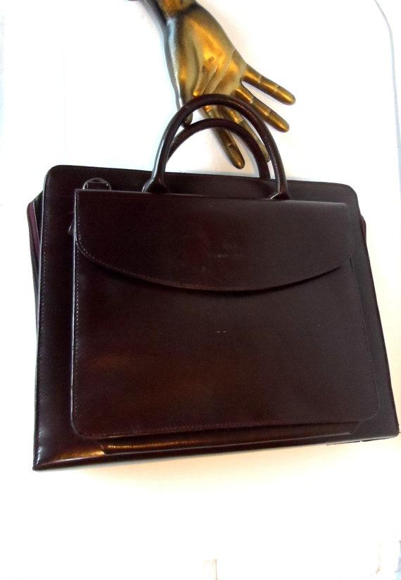 Vintage Leather Briefcase* SAMSONITE . Attache Cas