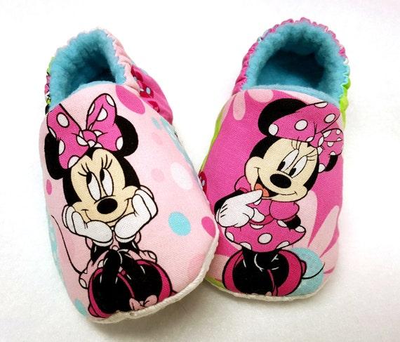 large éventail Style classique qualité supérieure Chaussures de bébé Minnie Mouse, Minnie Mouse chaussons, chaussures bébé  rose, chaussures à semelle souple, Rockabilly, chaussons bébé, chaussons ...