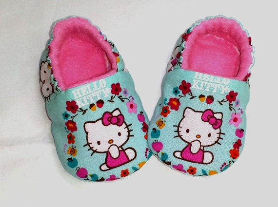 2de2dcc88 Hello Kitty Baby ShoesHello kitty toddler slippersPink Baby | Etsy