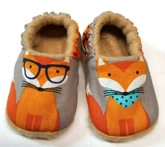 Fox Babyschuhe, Booties, weiche Sohle fox Krippe Schuhe, grau Babyschuhe, Baby Dusche Geschenk, Fox Kleinkind Hausschuhe, Foto Prop