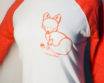 Fox with orange ink