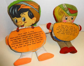 1960s Two Story Book Dolls.