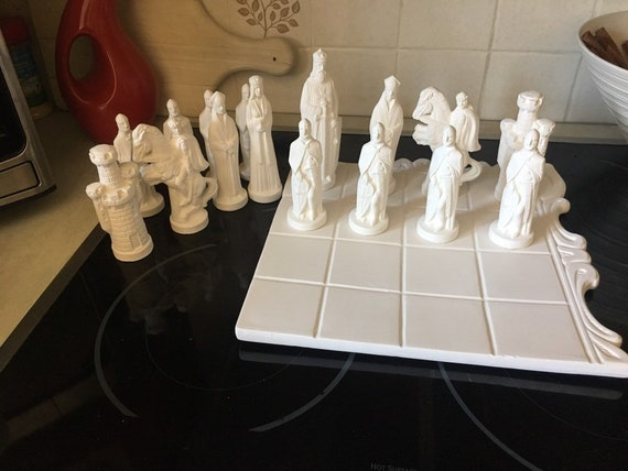 Diy Ready To Paint Alberta Chess Set Also Check Out The Chess Board