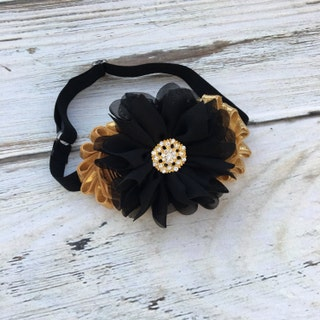 New Year's Eve Headband,Black and Gold Headband,Black Headband,Gold Headband,Black and Gold Bow,Newborn Headband,Baby Headband,Baby Gift