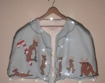 Ugly Christmas Sweater Reindeer Cape