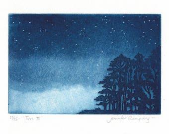 Trees II - Tree Etching by Jennifer Rampling
