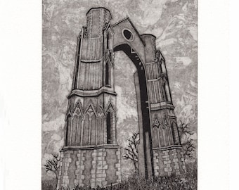 Etching - 'The Arch at Walsingham' by Jennifer Rampling -