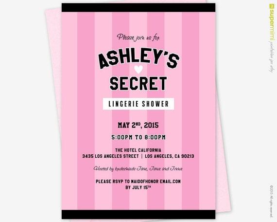 5fdb366e507e Victorias Secret Pink Black Theme Lingerie Bridal Shower