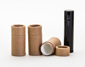 Eco Friendly 1/4 OZ - 300 PACK Lip  Balm Tube  - Kraft Cardboard 100% Biodegradable Cosmetic Push Up Tubes  -