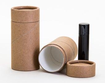 Eco Friendly 70 ML - 12 PACK Deodorant Tube  - Kraft Cardboard 100% Biodegradable Cosmetic Push Up Tubes  -