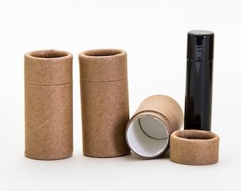 Eco Friendly 1/2 OZ - 300 PACK Lip  Balm Tube  - Kraft Cardboard 100% Biodegradable Cosmetic Push Up Tubes  -