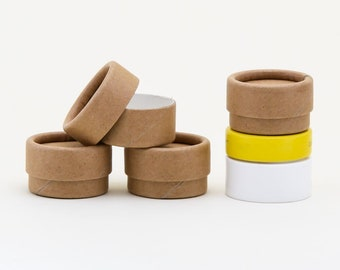 Eco Friendly 1/4 OZ - 12 PACK Lip  Balm Jar  - Kraft Cardboard 100% Biodegradable Cosmetic Jar