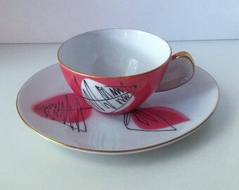Jyoto Porcelain Cup and Saucers, Quantity of Six (6) Each, Japan