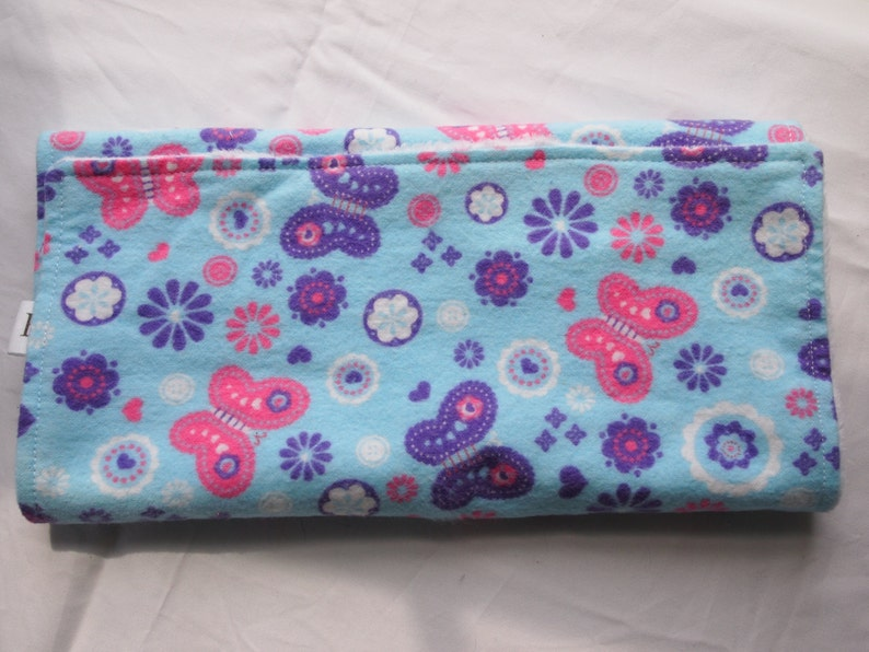 Burp Cloth Purple & Pink Butterflies image 0