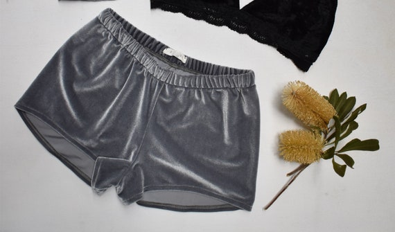 Retro Velvet Shorties, Stretch Festival Velour hotpant shorts