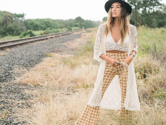 Angel Lace Fringe Kimono, Bohemian Lace Wedding jacket