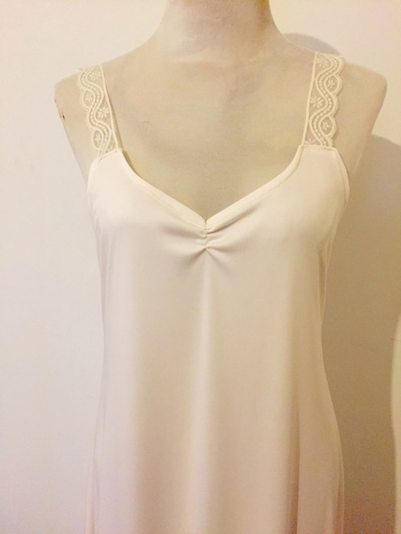 Vintage Silky Slip Dress for Lace Bridal Kaftan Wedding Dress